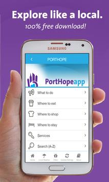Port Hope App - Ontario poster