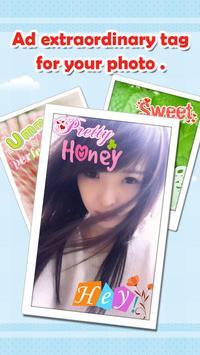 WordArt Photo Sticker poster
