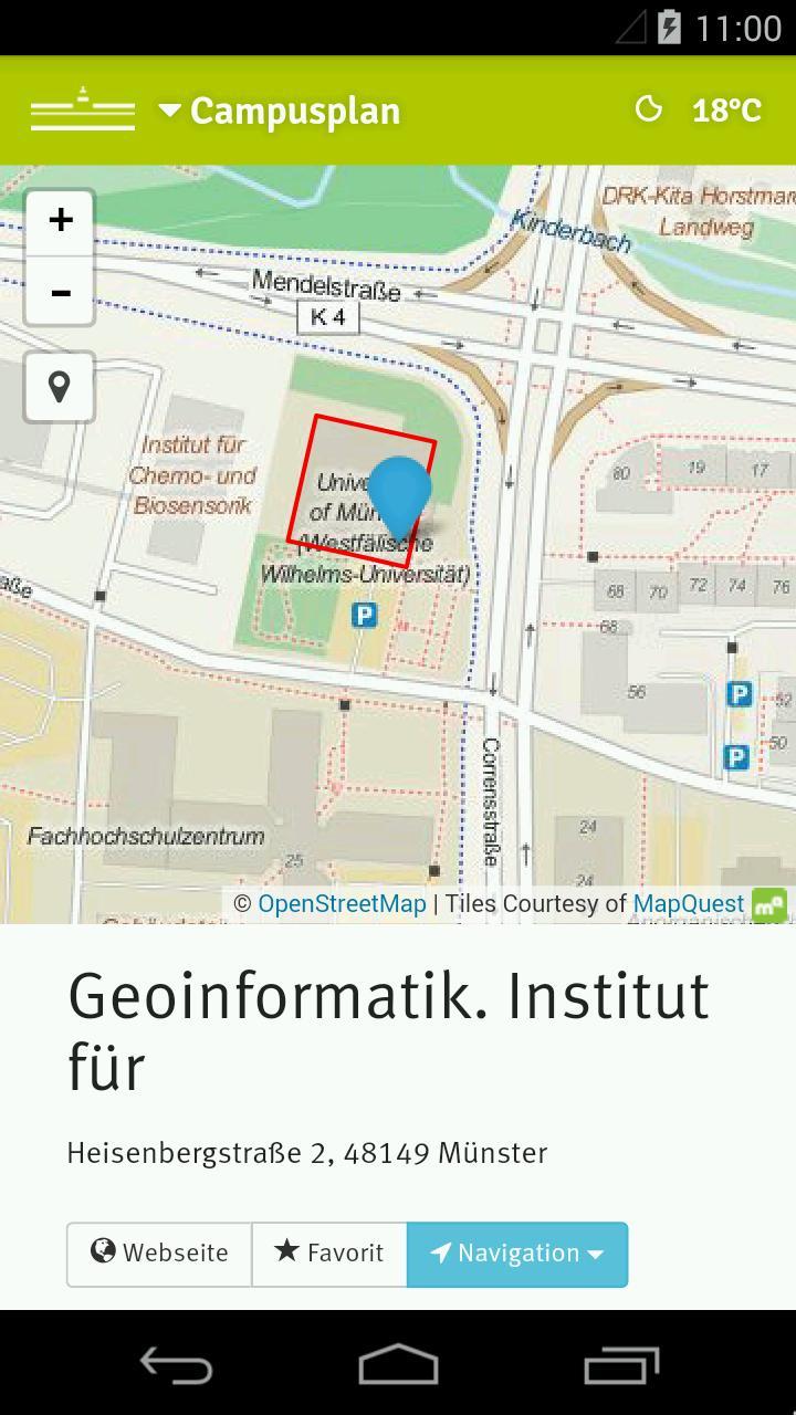 WWU Campusplan für Android - APK herunterladen
