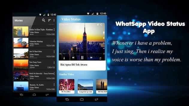 Video Status Whatsapp - Share feelings via videos apk screenshot