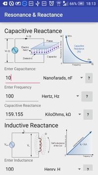 Resonance & Reactance Calc poster