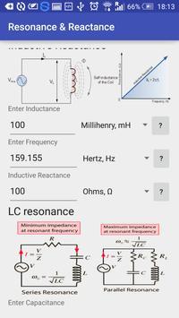 Resonance & Reactance Calc apk screenshot