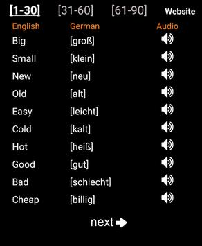 Learn German poster