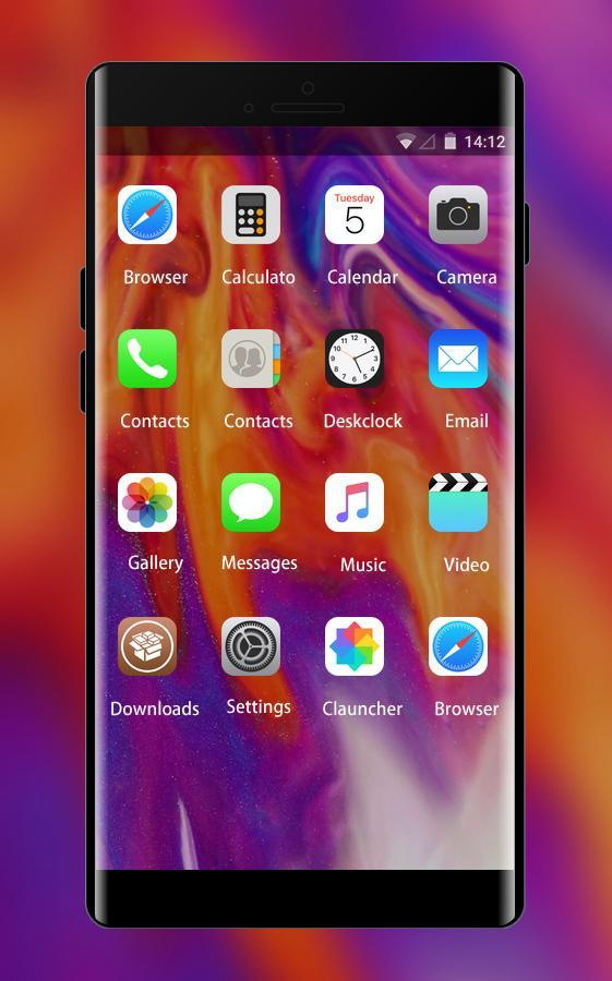Theme For Iphone X Color Fire Wallpaper Hd For Android