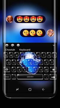 Keyboard Theme for iPhone 7 black sapphire poster