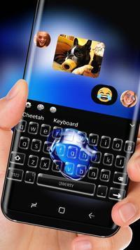 Keyboard Theme for iPhone 7 black sapphire screenshot 2