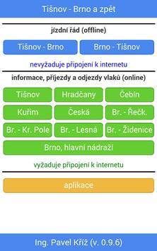 Jízdní řád: Tišnov - Brno poster