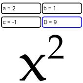 Quadratic equation Zeichen