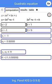 Quadratic equation Plakat