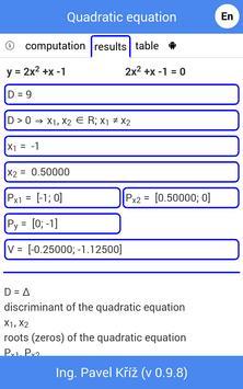 Quadratic equation Screenshot 1