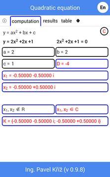 Quadratic equation Screenshot 3