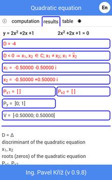 Quadratic equation Screenshot 4