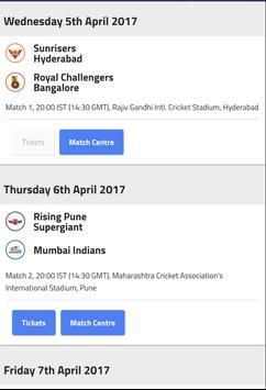 2017 IPL Schedule & live score poster