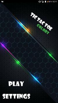 Tic Tac Toe: colors poster