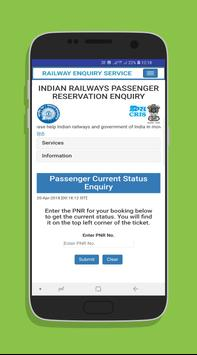 Indian Rail Services screenshot 1