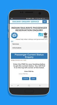 Indian Rail Services screenshot 2