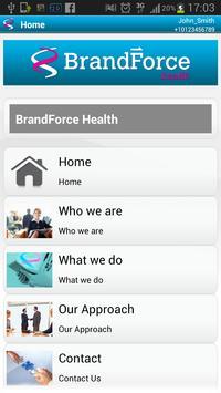BrandForce Health apk screenshot