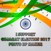 I support : Gujarat Election 2017 Photo DP Maker icon