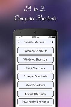 Computer Shortcut Keys screenshot 2