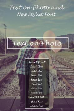 Stylish Text Over Photo poster