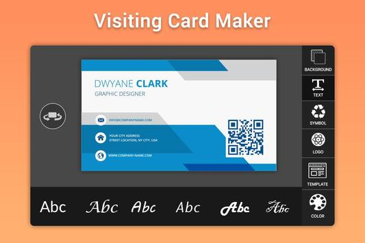 Business & Visiting Card Maker screenshot 1