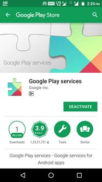 ... Instruction for Play Services apk screenshot ...