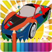 Coloring cars icon