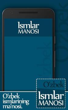Ismlar manosi poster