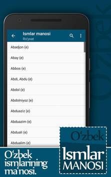 Ismlar manosi screenshot 2