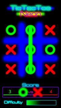 TicTacToe Neon poster