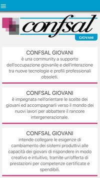 Confsal giovani poster