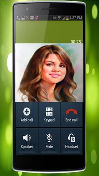 Fake Call From Selena Gomez apk screenshot