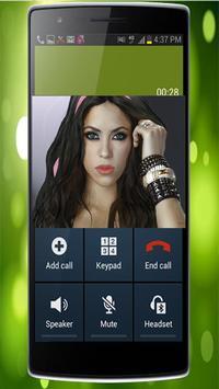 Fake Call From Shakira apk screenshot