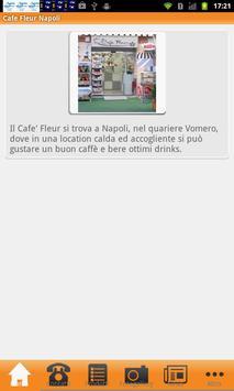 Cafe Fleur Napoli poster