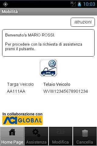 Mobilità VW Auto poster