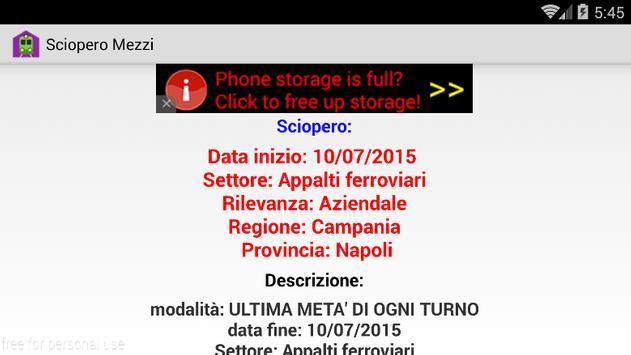 Sciopero treni screenshot 2