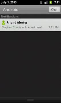 Friend Alerter for Facebook apk screenshot
