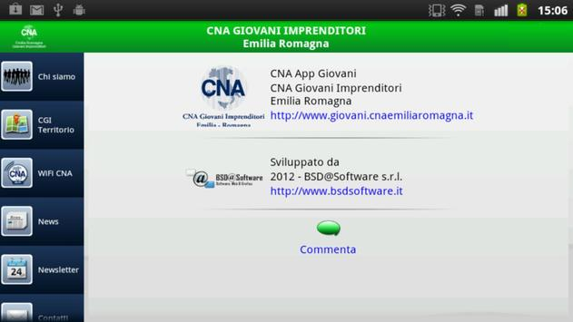 CNA Giovani Imprenditor tablet poster