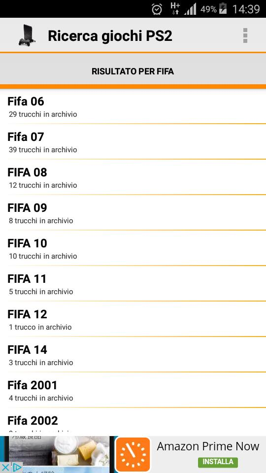 Trucchi fifa 9 nds