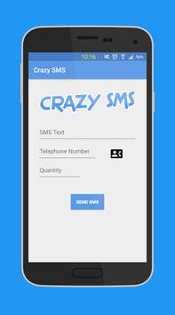 Crazy Prank SMS - SMS not free poster