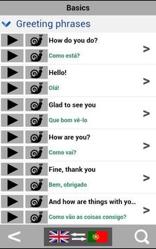 Learn Portuguese for free - Portuguese translator apk screenshot