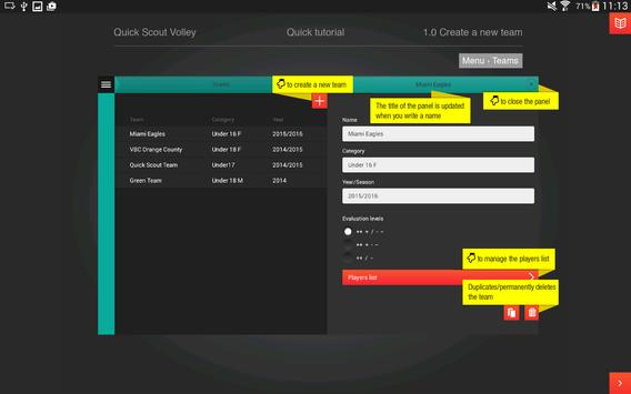 Quick Scout Volley User Manual apk screenshot