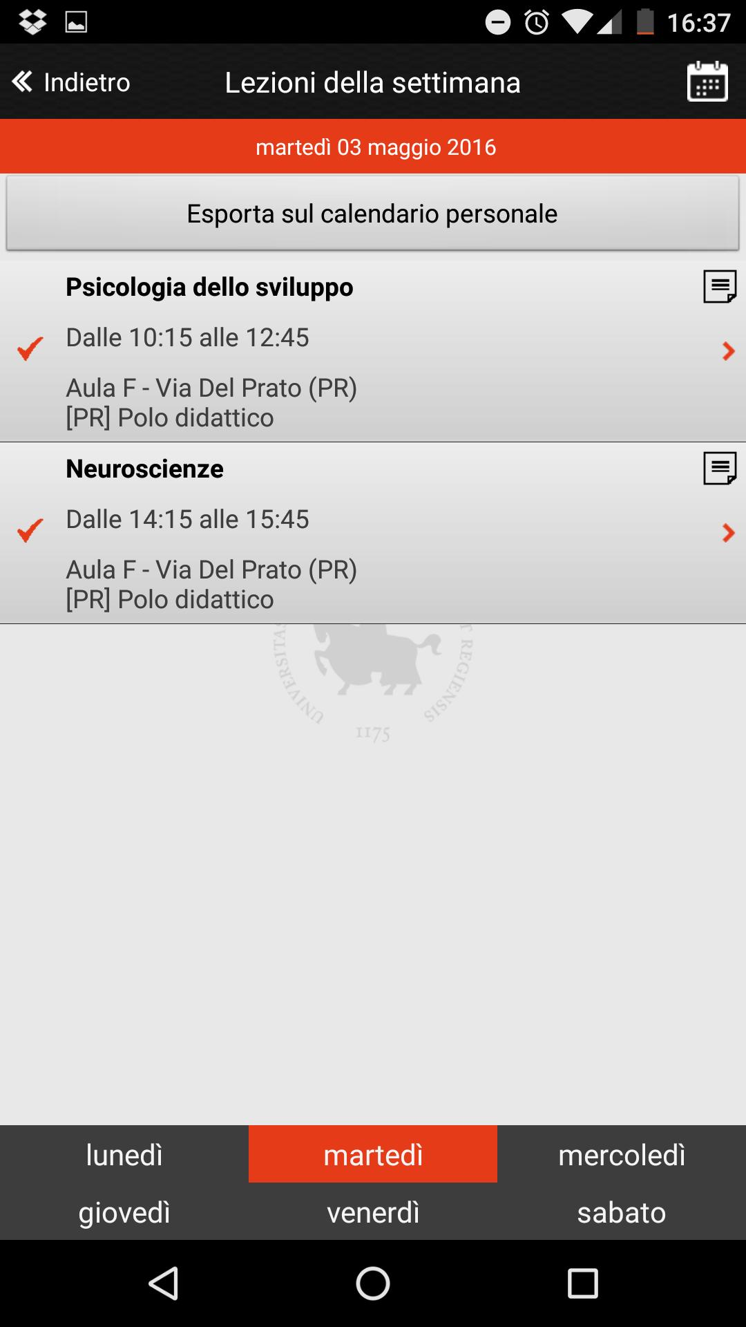 Calendario Lezioni Unimore.Unimore Calendar For Android Apk Download