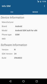 Info SIM apk screenshot