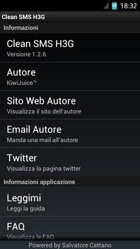 Clean SMS H3G (Tre) apk screenshot