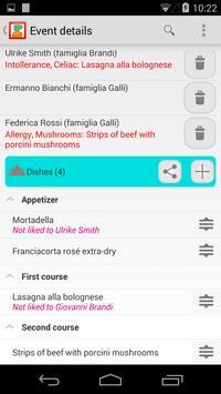 Dinners and cellar management apk screenshot