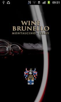 Wine Brunello poster