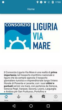Liguria Via Mare poster