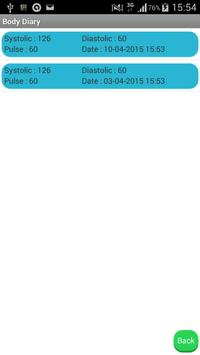 Blood Pressure Diary apk screenshot
