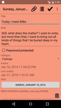 BasicDiaryDroid apk screenshot